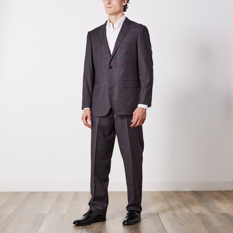 Paolo Lercara // Suit // Gray + Plum Checkout (US: 36S)
