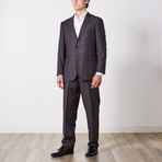 Paolo Lercara // Suit // Gray + Plum Checkout (US: 42S)