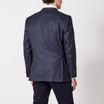 Via Roma // Classic Fit Sport Jacket // Black + Blue (US: 42R)