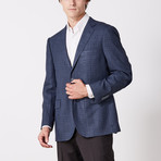 Paolo Lercara // Sport Jacket // Blue + Black Check (US: 40S)