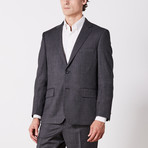 Via Roma // Classic Fit Suit // Gray Nailhead (US: 42S)