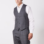 Paolo Lercara // 3 Piece Suit // Gray Check (US: 42S)