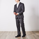 Via Roma // Classic Fit Suit // Gray Microbox (US: 42S)