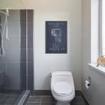 """Toilet Paper Navy Blue Patent Blueprint // Aged Pixel (26""""W x 40""""H x 1.5""""D)"""
