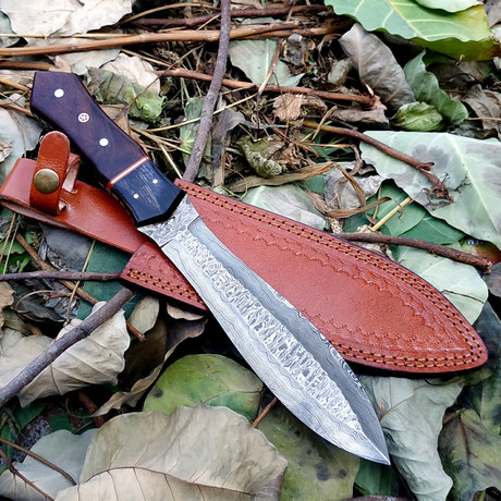 Hand Forged Damascus Dagger