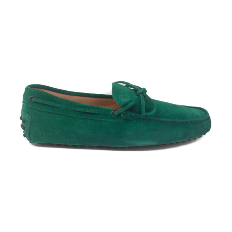 Suede Gommini Driving Loafer // Green (US: 6.5)