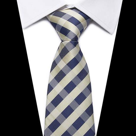 Neck Tie // Beige + Navy