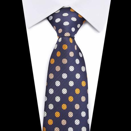 Neck Tie // Navy Polka Dot
