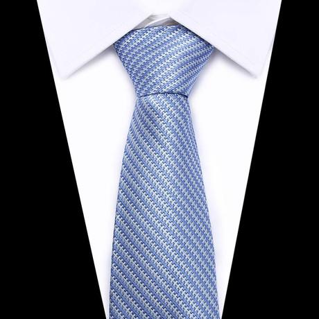Neck Tie // Baby Blue + White Design