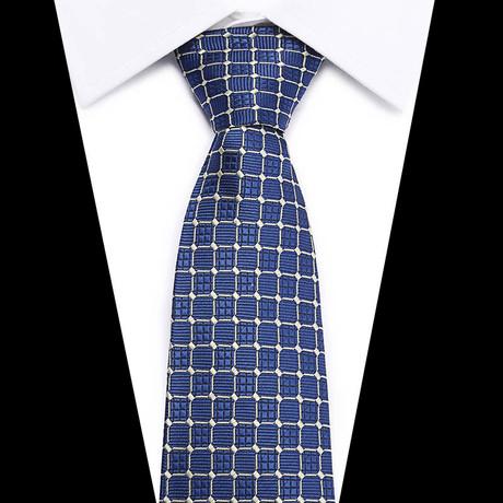 Neck Tie // Blue Patterned Design