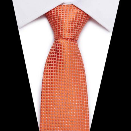 Neck Tie // Orange Micro Tiles