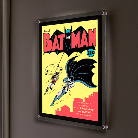 DC Comics (Batman Number 1) // MightyPrint™ Wall Art // Backlit LED Frame