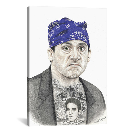 "Prison Mike // Inked Ikons (12""W x 18""H x 0.75""D)"