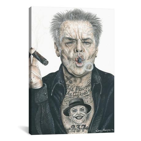 "OG Nicholson // Inked Ikons (12""W x 18""H x 0.75""D)"