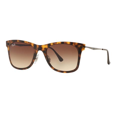 Unisex Rectangular Wayfarer Sunglasses // Havana
