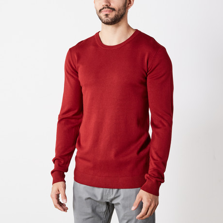 Slim Crew Neck Sweater // Jester Red (S)