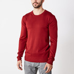Slim Crew Neck Sweater // Jester Red (XL)