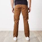 Slim 5 Pocket Twill Colored Jean // Tobacco (36WX32L)