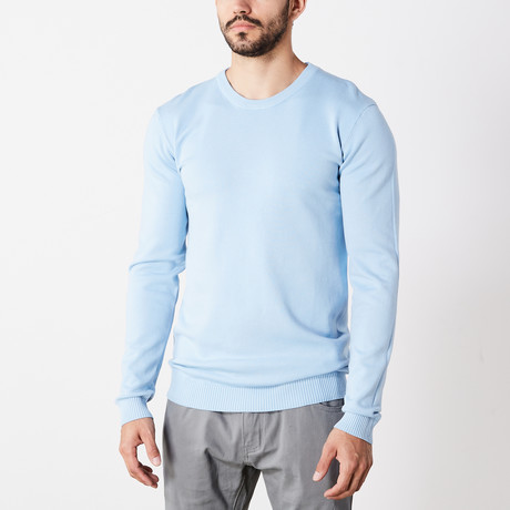 Slim Crew Neck Sweater // Powder Blue (S)