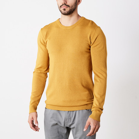 Slim Crew Neck Sweater // Mustard (S)