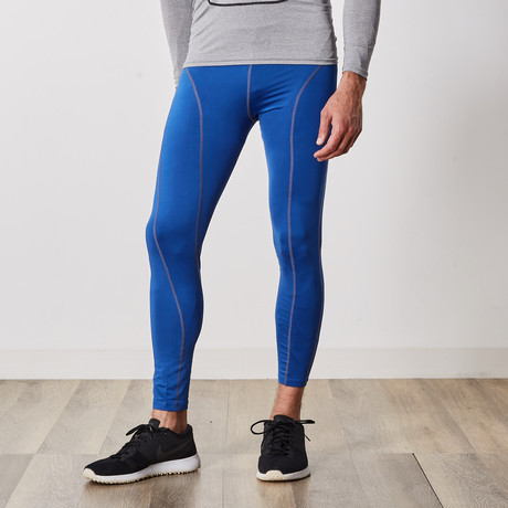 Men's Quick-Dry Compression Pants // Blue (Small / Medium)
