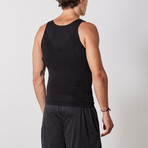 Men's Compression and Body-Support Undershirt // Black (Large)