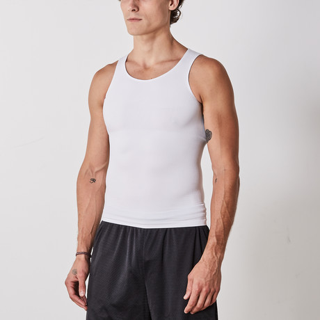 2-in-1 Compression and Posture Support Shirt // White (Small)