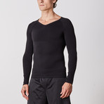 Men's Compression Long Sleeve Shirt // Black (Small)