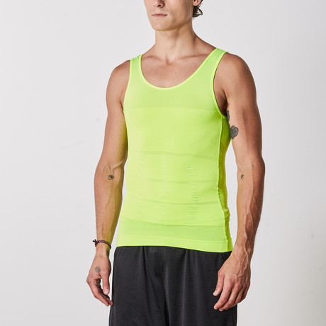 Men's Compression and Body-Support Undershirt // Lime (Small)