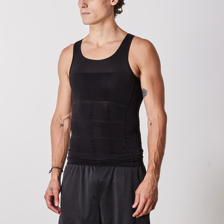 Men's Compression and Body-Support Undershirt // Black (Small)