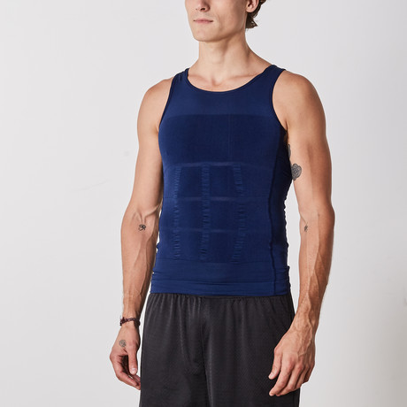 Men's Compression and Body-Support Undershirt // Navy (Small)