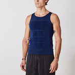 Men's Compression and Body-Support Undershirt // Navy (3X-Large)