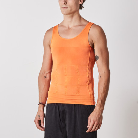 Men's Compression and Body-Support Undershirt // Orange (Small)