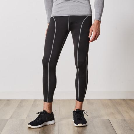 Men's Quick-Dry Compression Pants // Black (Small / Medium)