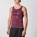 Men's Compression and Body-Support Undershirt // Eggplant (Large)