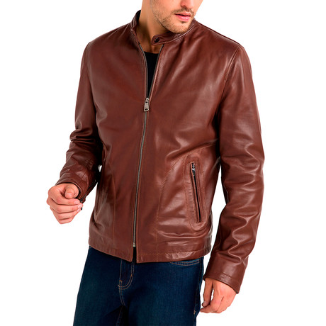 Charles Leather Jacket // Cognac (Small)