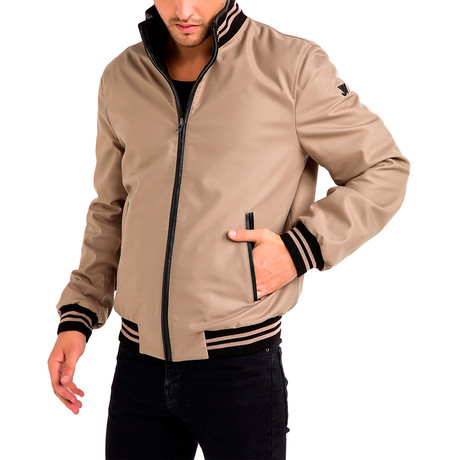 Arthur Reversible Leather Jacket // Black + Beige (Small)