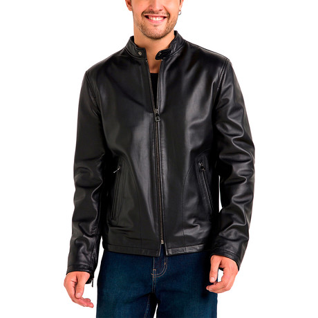Charles Leather Jacket // Black (Small)
