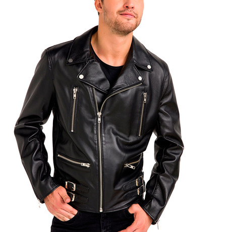 Lucas Leather Jacket // Black (Small)