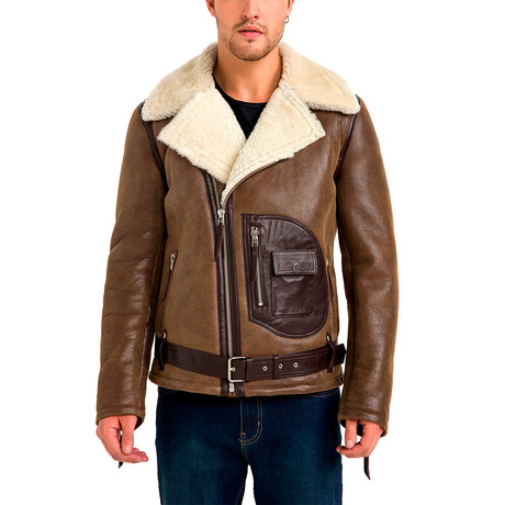 James Leather Jacket // Cognac (Small)