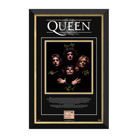 Queen // Limited Edition Photo Display // Facsimile Signatures