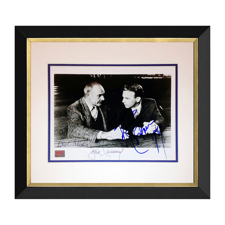Sean Connery + Kevin Costner // Autographed Framed Photograph