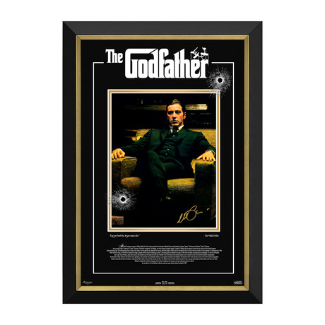 Al Pacino // The Godfather // Limited Edition Facsimile Signature Display // 72/72