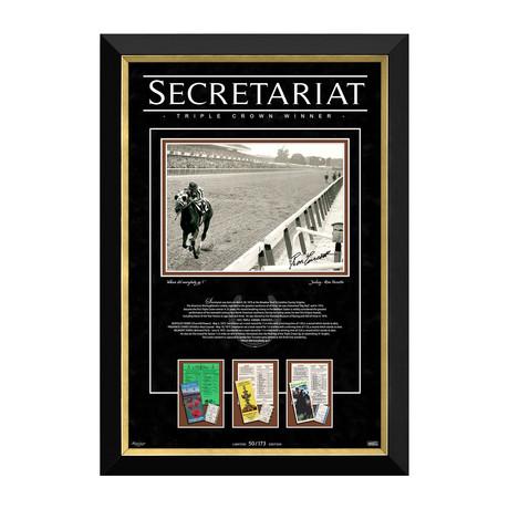 Ron Turcotte On Secretariat // 1973 Triple Crown Limited Edition Facsimile Autograph