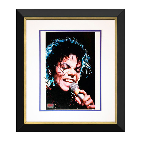 Michael Jackson // Autographed Photo Display