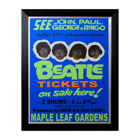 The Beatles // Live at Maple Leaf Gardens 1966 Toronto // Custom Framed