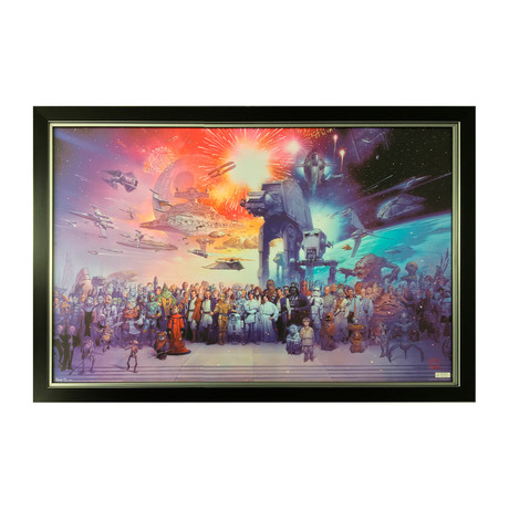 Star Wars Collection // Framed Art of All Characters