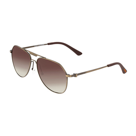 Mount Polarized Sunglasses // Titanium (Bronze Frame + Brown Lens)