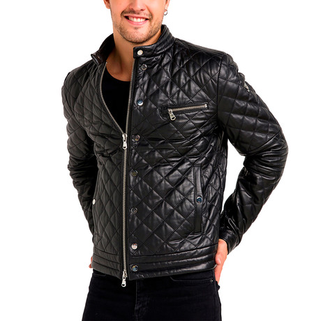 Devin Leather Jacket // Black (Small)
