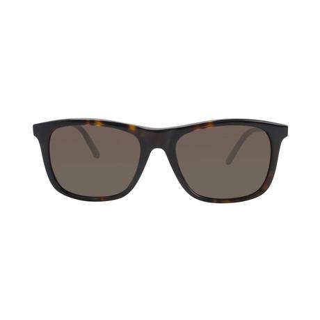 Montblanc Men's Square Sunglasses // Dark Havana+ Brown
